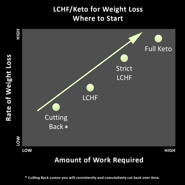 4 Ways to Go LCHF/Keto Chart