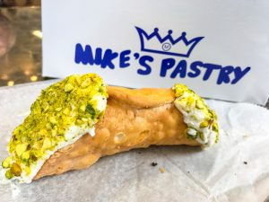 Pistachio cannoli from Mike's Pastry
